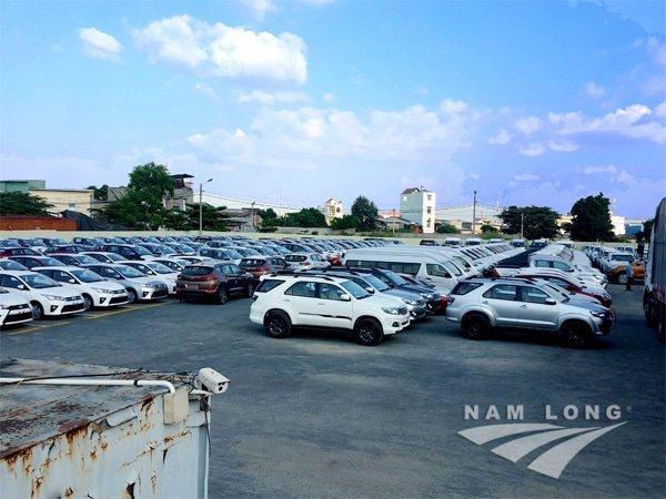 Bãi xe công ty nam long tại ga sóng thần