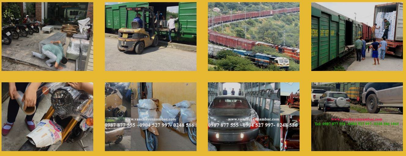 Vận chuyển hàng hóa bằng đường sắt và đường bộ